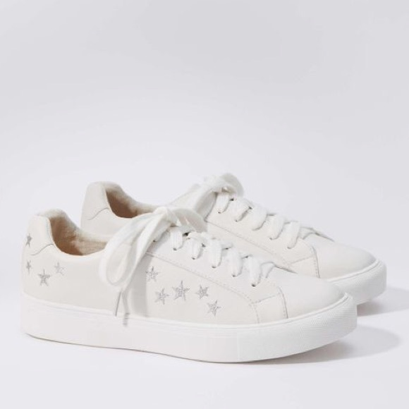 White Sneakers With Silver Stars   Poshmark